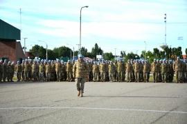 Despidieron a la Fuerza de Tarea Argentina 55