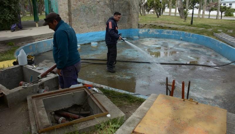 Arreglos en la Plaza San Martín.