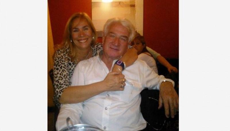 Paola Agüero junto al homicida, su ex pareja Rogelio Héctor Schiaroli