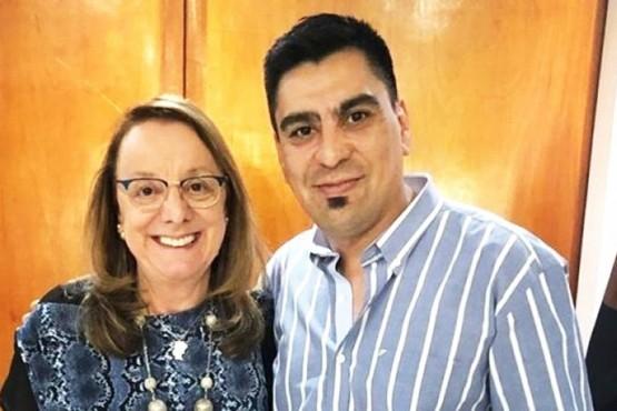 Fernando Españón junto a Alicia Kirchner (Foto archivo).