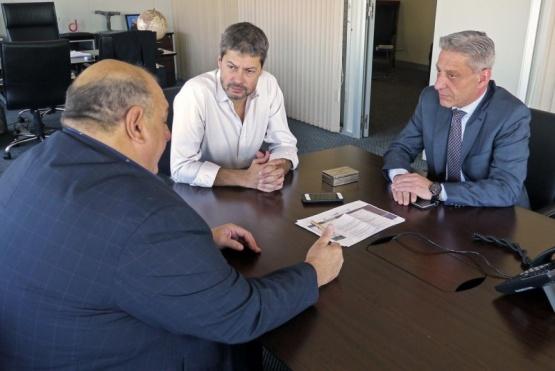 Mariano Arcioni con el Ministro de Turismo y Deporte de la Nación.