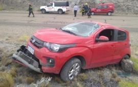 Tres santacruceños heridos en vuelco sobre ruta 40