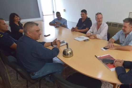 Reunión de Defensa Civil con organismos provinciales.