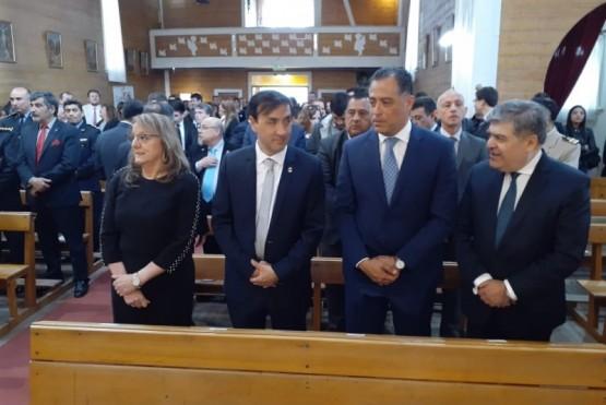 La Gobernadora Alicia Kirchner, Pablo Grasso, Eugenio Quiroga y el Dr. Domingo Fernández.
