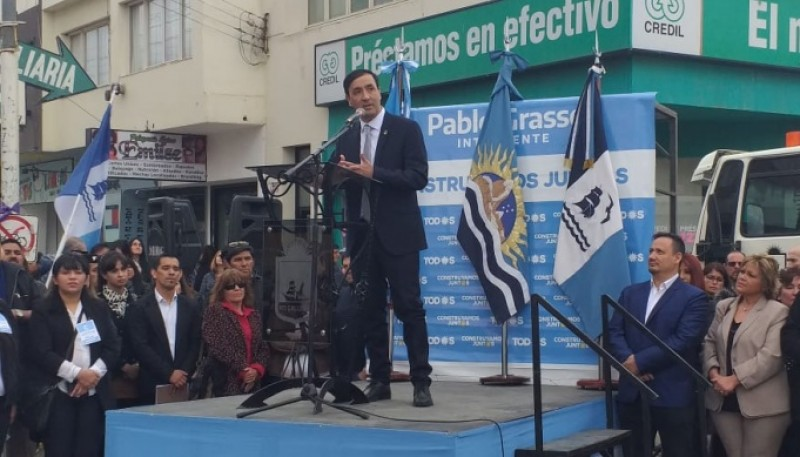 Pablo Grasso en el acto (Foto: C.R)