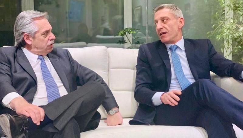 Alberto Fernández y Mariano Arcioni (Foto archivo )