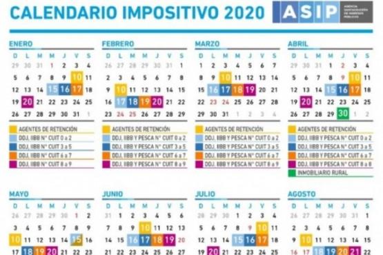 Calendario Impositivo 2020.