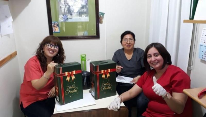 La asociación con las cajas navideñas.