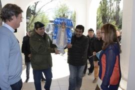 La Gobernadora recibió en la Casa de Gobierno a la Virgen de Luján