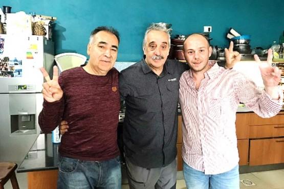 Atanasio Pérez Osuna, Matías Mazú y Dario Menna,