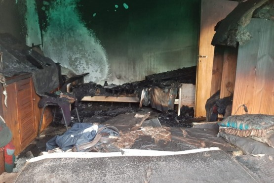 Las llamas arrasaron con el interior.