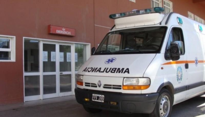 Ambulancia del nosocomio local.