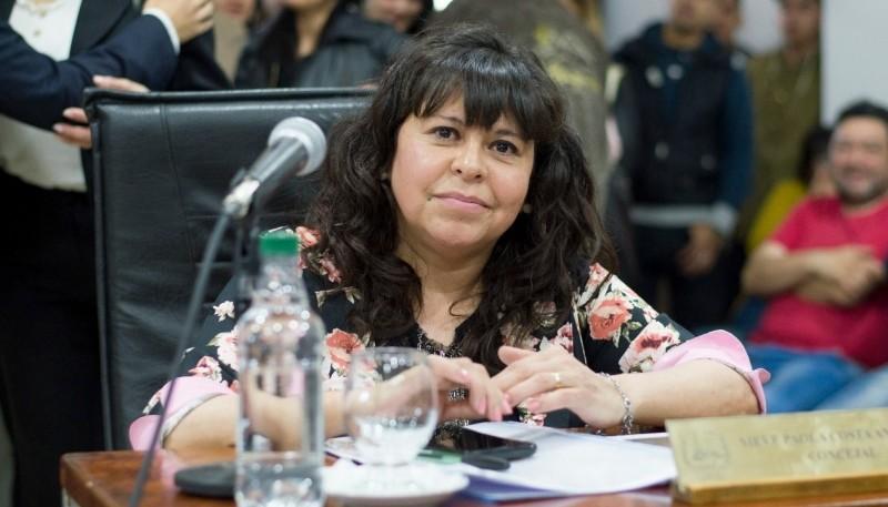La Concejal Paola Costa.