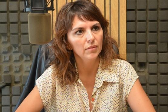 Silvina Córdoba en Tiempo FM. (Foto C.R.)