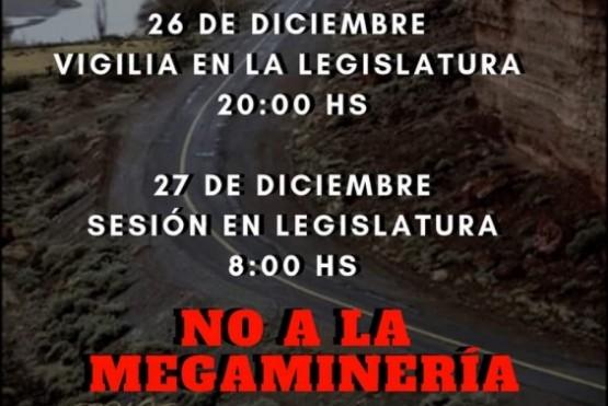 Sesión en la legislatura por no a la megaminería.