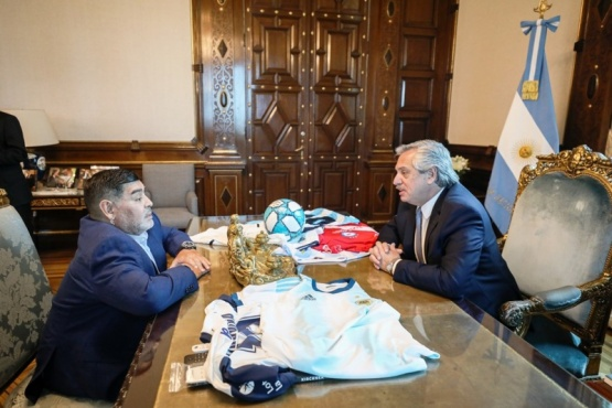 Alberto y Diego en el despacho presidencial.