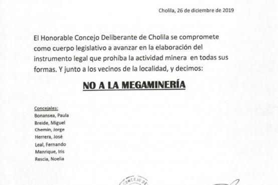El Concejo Deliberante de Cholila rechazó la megaminería
