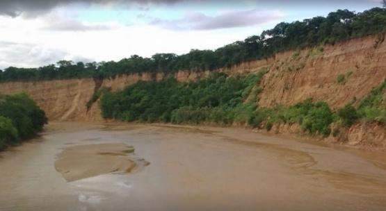Río en el que se ahogó.