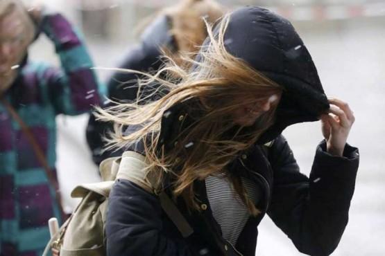 Los vientos podrían alcanzar los 70 km/h.