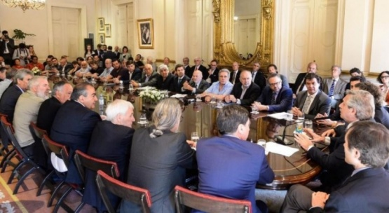 Reunión en Casa Rosada.