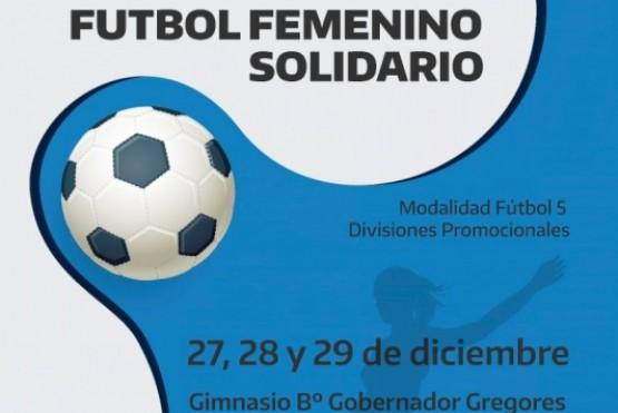 Fútbol femenino solidario.