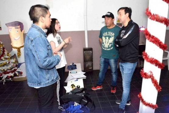 Guerrero y Grasso en la Casa de la Juventud.
