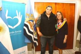 Garzón se mostró junto a la gobernadora Alicia Kirchner