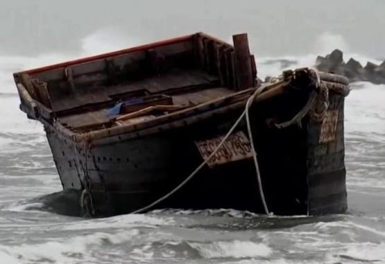 Los investigadores creen que el barco provino de Corea del Norte. Foto: Gentileza CNN