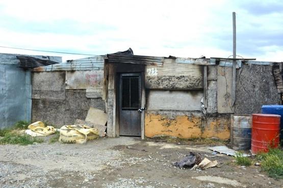 La vivienda que sufrió el incendio en Madres a la Lucha.