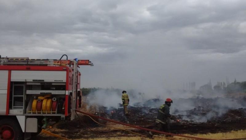 Se incendiaron pastizales en el barrio Las Margaritas
