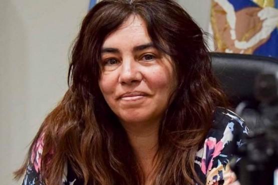 Las secretaria de Gobierno Municipal, Celina Mansilla.