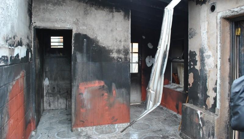 Las consecuencias del incendio.