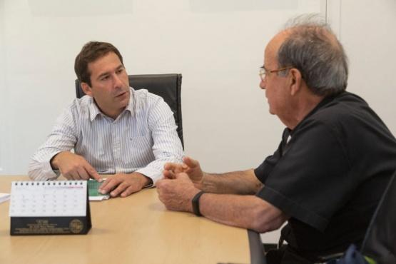 El intendente de Comodoro Rivadavia se reunió con monseñor Joaquín Gimeno Lahoz