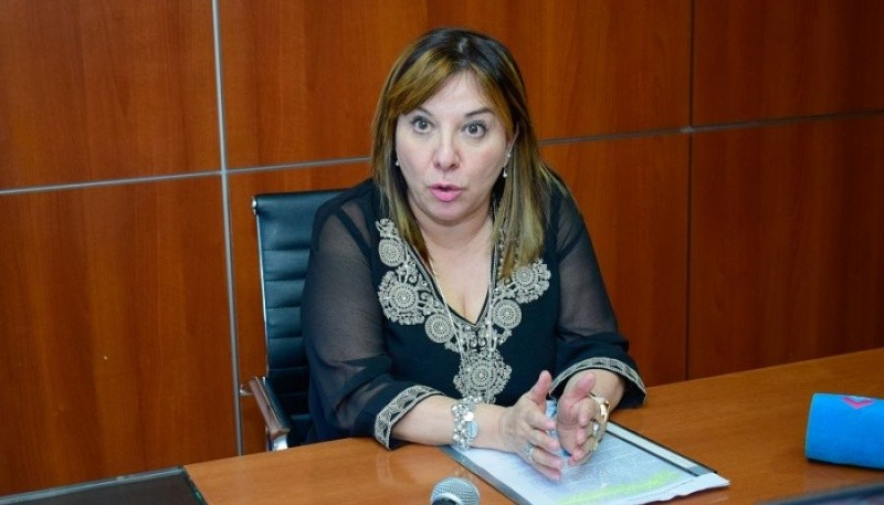La presidenta del Consejo Provincial de Educación, María Cecilia Velázquez.