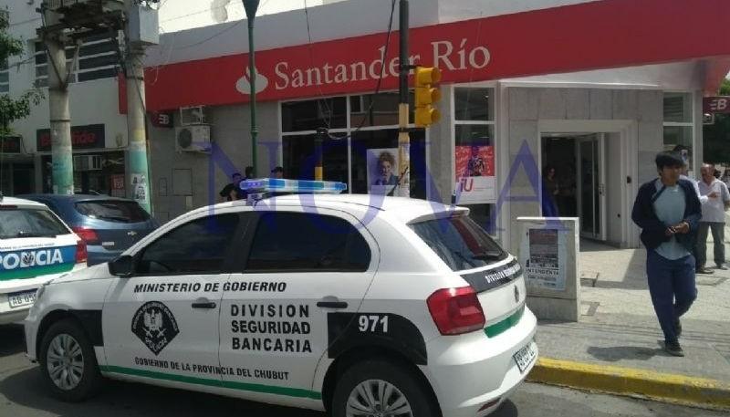 Robo millonario en el banco Santander.