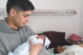 Benjamín Leonel, el primer bebé del 2020