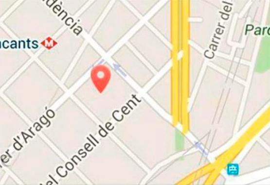 Imagen ilustrativa de una ubicación que se puede enviar por WhastApp.