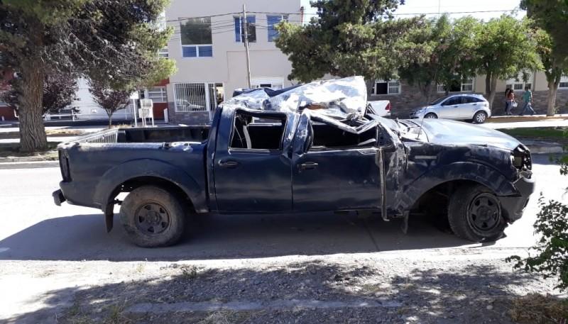 Estado en el que quedó la camioneta.