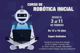 Se realizará el curso de robótica inicial