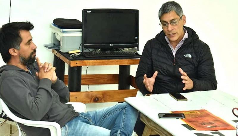 José Oyarzo junto a Eloy Echazú