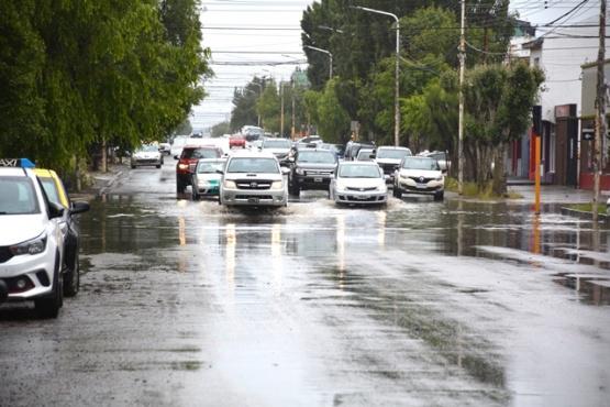 Calles afectadas por la lluvia. (C.G)
