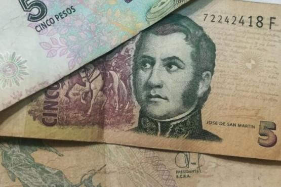 Los billetes de San Martín.