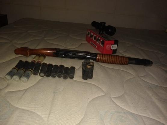 Armas secuestradas.