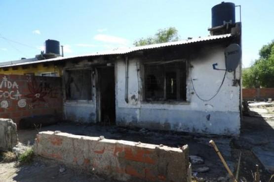 Así quedó la vivienda tras el incendio.