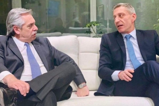 Alberto Fernández y Mariano Arcioni (foto archivo).