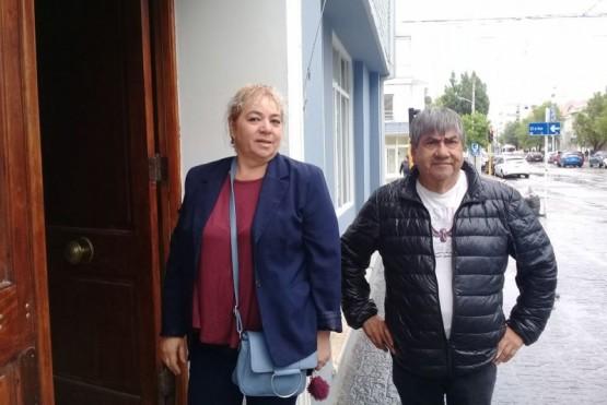 Carabajal ingresando al Ministerio de Economía.