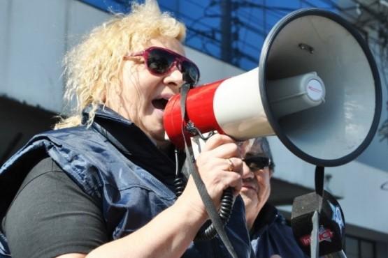 Viviana Carabajal vocal por los pasivos ante la Caja de Previsión Social (Foto archivo).