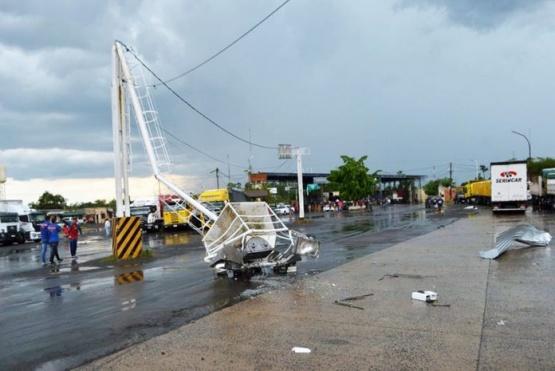Grandes daños por el temporal en Clorinda.