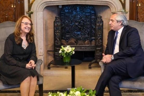 Alicia Kirchner junto a Alberto Fernández