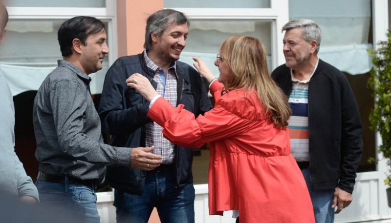 Pablo Grasso, Máximo Kirchner y Alicia Kirchner.